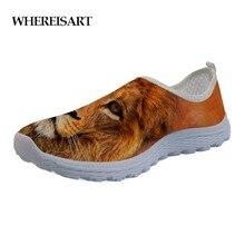 WHEREISART Drop Shipping Slacker Shoes New Men Summer Fashion Casual Lightweight Lion Lazy