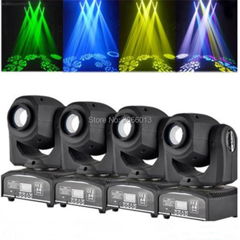 4pcs/lot 30W LED gobo light/ 30W LED Spot Moving Head /DMX512 effect stage lighting/home party holiday lights/30W DJ disco Light high quality mini 10w led spot moving head 7 gobo stage light disco dj dmx512 rgbw stage effect projector stereotypes packaged