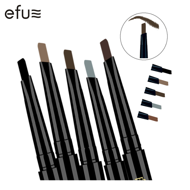 5 Couleurs 24 Heures de Longue durée Crayon À Sourcils Doux Et Lisse Mode Oeil 0.4g Lotus Série Maquillage Marque EFU #7046-7050