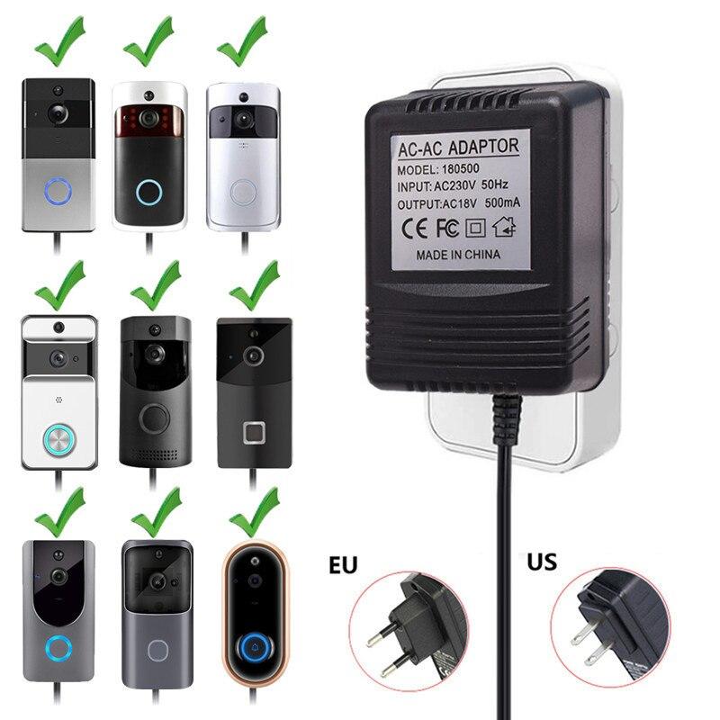 US UK EU Plug 18V AC Transformer Charger for Wifi Wireless Doorbell Camera Power Adapter IP Video Intercom Ring 110V 240V|Doorbell|Security & Protection - title=