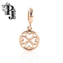 Endless Jewelry Bracelet Clover Heart Medallion True Love Drop Rose Gold Charm SJSB1303