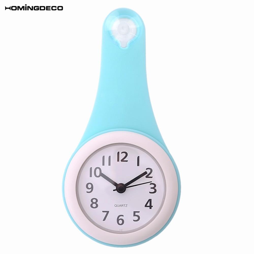 97b1b207775 Homingdeco cozinha Banheiro Relógio de Parede Silencioso À Prova D  Água  multifunções Criativo Relógios Decoração Da Sua Casa com Otário Parede Do  Chuveiro ...