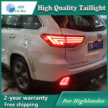 Car Styling Tail Lamp for Toyota Highlander 2015 Tail Lights LED Tail Light Rear Lamp LED DRL+Brake+Park+Signal Stop Lamp все цены