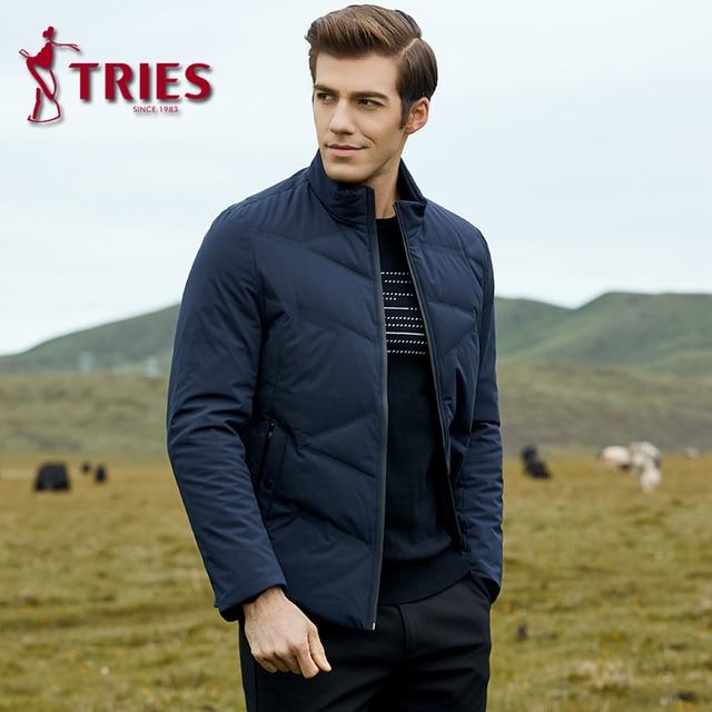 TRIES duck down jacket men winter coat men Brand mens down jacket lightweight down jacket for men Casual Outerwear mens clothing 2