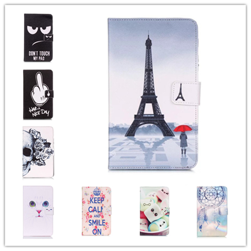 Fashion 10 Patterns for Samsung Galaxy Tab 4 7.0 T230 T231 T235 Leather Case Cover Stand for Galaxy T230 Tablet Cases