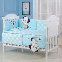 5 шт. детская кроватка из чистого хлопка для малышей, детская кроватка с амортизатором, бампер для детской комнаты, декор для новорожденных, ...