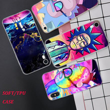 Silicone Phone Case Rick and Morty Cartoon Printing for iPhone XS XR Max X 8 7 6 6S Plus 5 5S SE Matte Cover