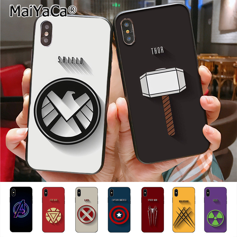 MaiYaCa Marvel Superhero High Quality Classic Phone Accessories Case for Apple iPhone X Xs Xr Xs max 8 7 6 6S Plus 5 5S SE cass чехлы марвел