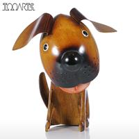 Tooarts Shakes Head Figurine Puppy Handmade Spring Wire Puppy Statuettes Modern Animal Artificial Home Decoration Accessories