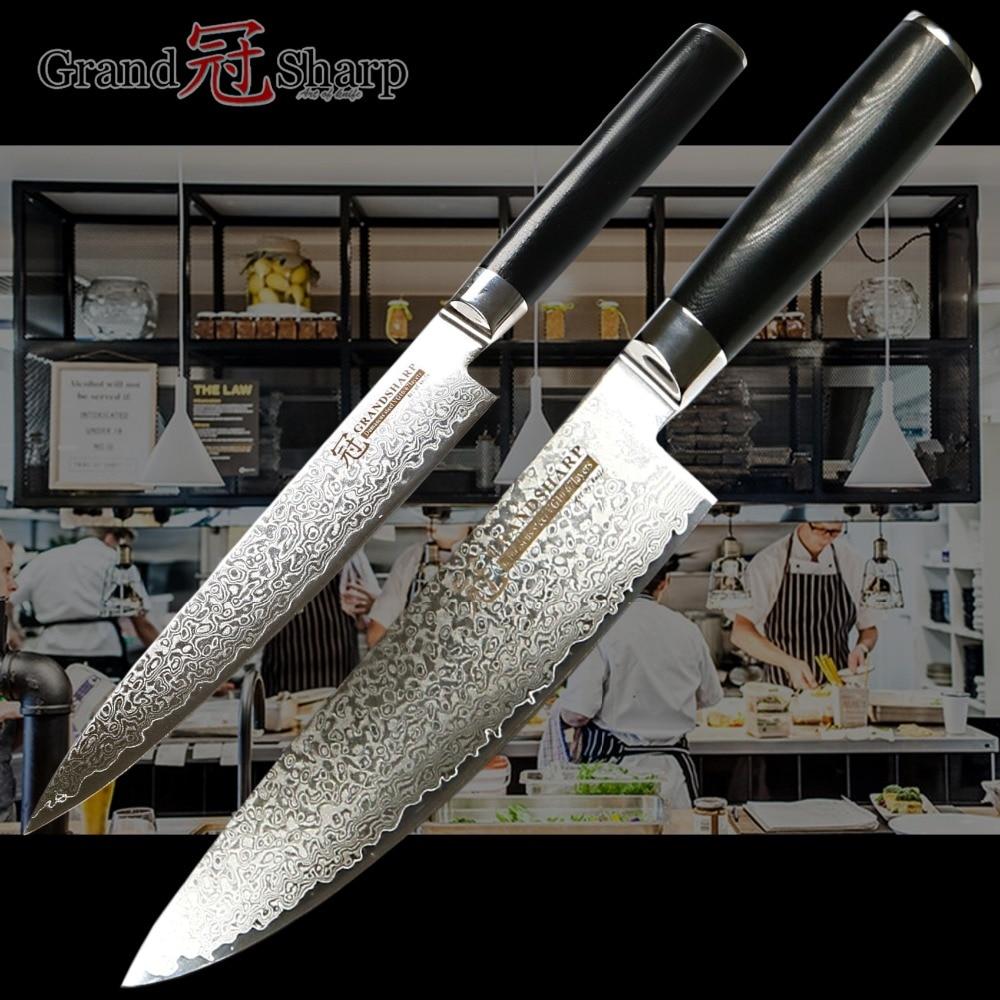 Damascus Mes Set Kiritsuke Utility Japanse Keukenmessen vg10 Japanse Damascus Rvs Chef Koken Gereedschap Beste Cadeau-in Messenset van Huis & Tuin op  Groep 1