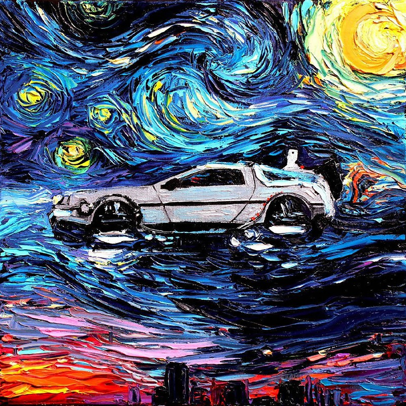 Canvas Painting Back To The Future Classic Movie Art canvas poster print Room Wall Decor 30x30 50x50