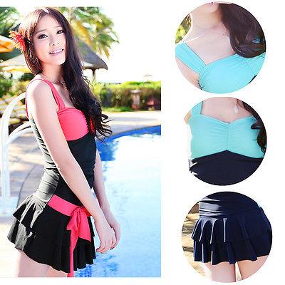 22b1c3635b1 Ladies Fashion Swimming Costume Swimwear Swimsuit Skirt 8 10 12 16 ...