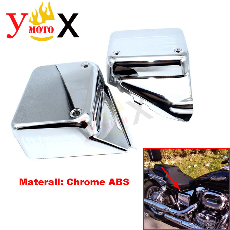 Motorcycle Chrome Plastic ABS Battery Cover Side Frame Cover Protection For Honda Black Widow 2000 2007