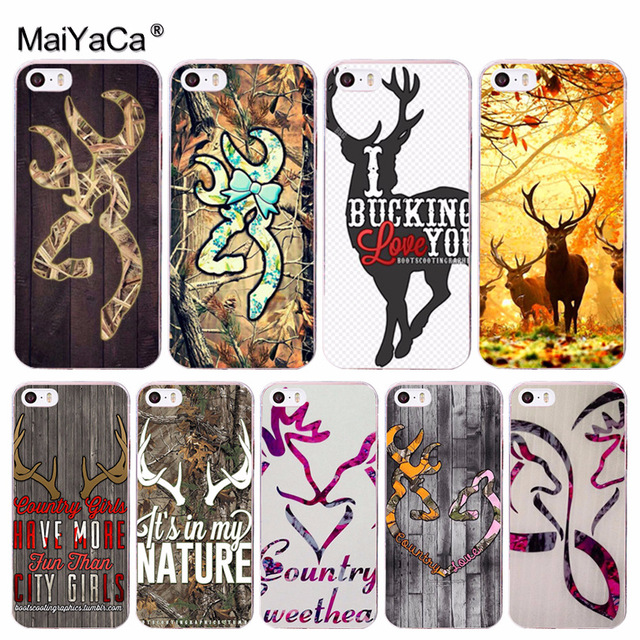 47dbf4460b7c MaiYaCa Browning Hunting Deer Novelty Fundas Phone Case Cover for Apple  iPhone 8 7 6 6S Plus X 5 5S SE 5C 4 4S Cover
