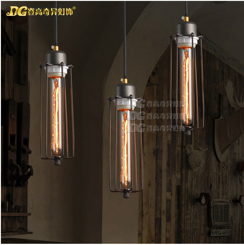 Personality Creative Loft Style Industrial Vintage Pendant Light Iron Retro Dining Room Restaurant Pendant Lamp Free Shipping цена и фото