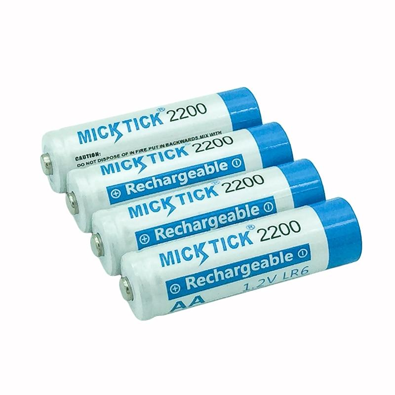 4PCS AA 2a 2A 5# 2200mAh 1.2V NI-MH Rechargeable Battery Batteria Batteries SRISNA Cameras toys clocks shavers telecontroller