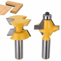 2pcs 120 Degree Woodworking Engraving Milling Cutter 1 2 Shank Router Bits Set Power Tools With