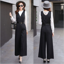 d187cab7590 Autumn New Arrival Professional Slim Wide Leg Pants Women Jumpsuit 2019  KPOP Office Lady Brands Elegant