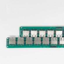 1 шт. USB 2,0-DIP адаптер 5pin Разъем 10 USB гнездовой разъем PCB конвертер макет USB коммутатор плата SMT мать тест Кабан