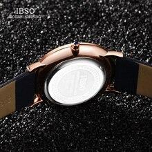 IBSO 7.6MM Ultra-Thin Men Women Luxury Watches New Fashion Waterproof Quartz Watch Men Women Genuine Leather Strap Montre Femme