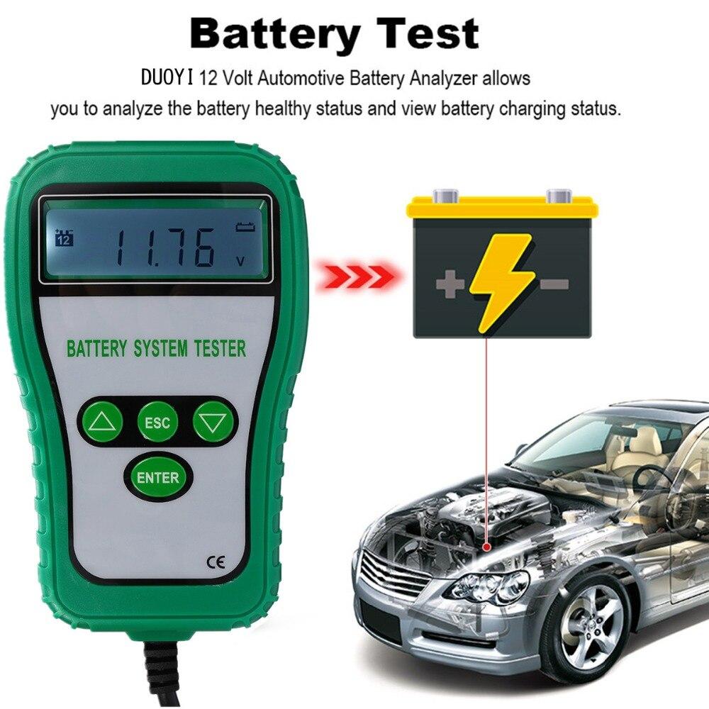 12 V LCD testeur de batterie numérique analyseur testeur de démarrage ampères batterie alternateur batterie système résistance tension durée de vie analyse