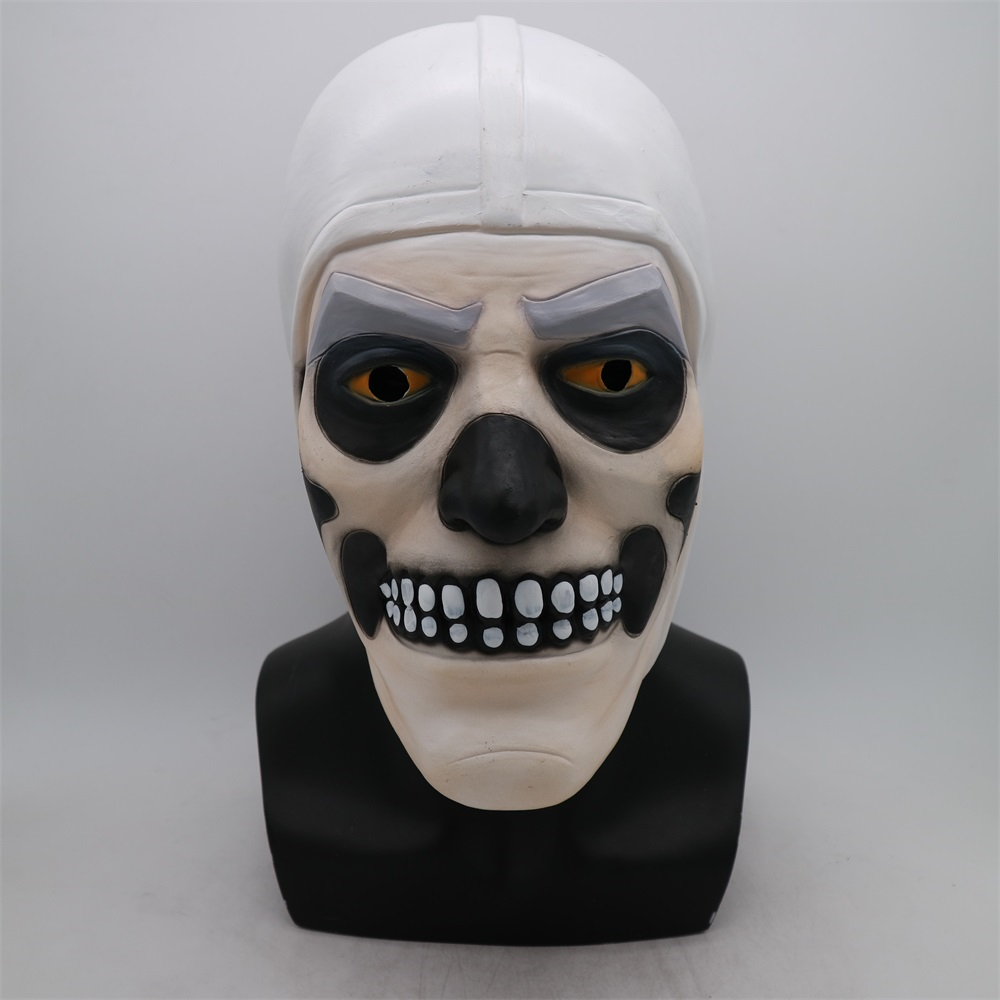 Funny Game Adult Skull Trooper Skin Latex Mask Helmet Halloween Cosplay Costumes Full Face Party Masks Props