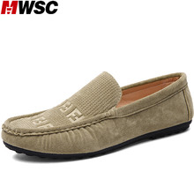 MWSC New Design Man Flat with Shoes Men's Chaussure Slip-On British Style Male Fashion Trend Driving Casual Shoes