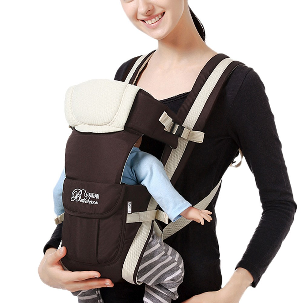 0-30 Months Breathable Front Facing Baby Carrier 4 in 1