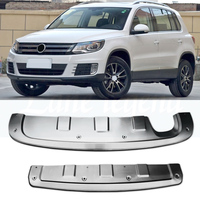 for Volkswagen Tiguan 2013 2014 2015 2016 front stainless steel chrome rear bumper protector non slip sheet