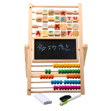 Multi function children Wooden Abacus Counting Beads toys / black and white drawing board / Kids Child Learning Educational Toys