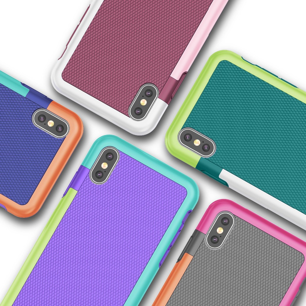 HTB1f7I3RwHqK1RjSZJnq6zNLpXat Ultra Slim 3 Color Hybrid Anti-slip Shockproof Phone Case for iphone X XS MAX XR Soft TPU Silicon Cover For iphone 7 8 6 6S Plus