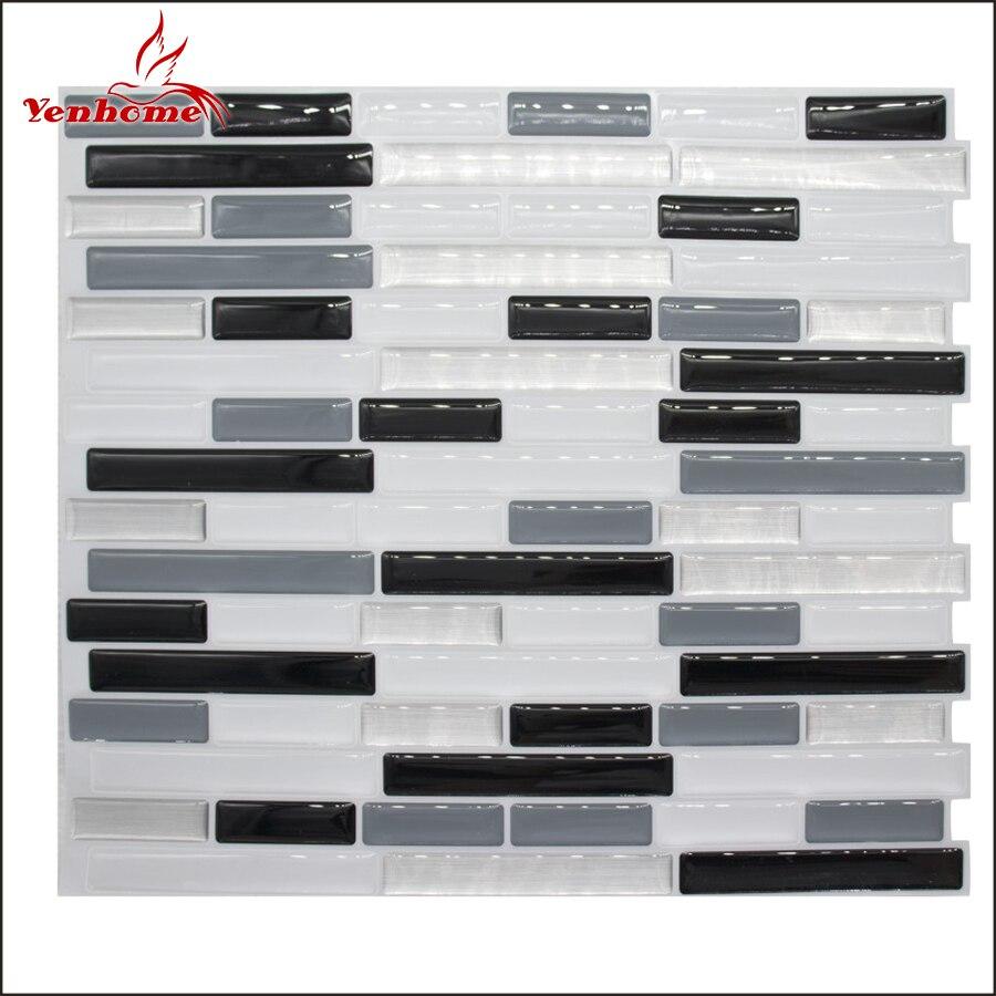 Vinyl Schälen Und Stick 3D Wand Fliesen Aufkleber Küche Backsplash Selbst  Klebe Tapete Bad Mosaik Fliesen