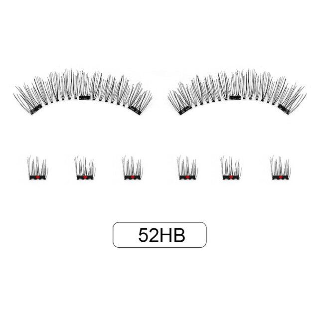 Genailish 8pcs 3D Magnetic Eyelashes Mink Lash Full Strip Lashes False Eyelash With Tweezers Double Magnet Fake Lash  SCT-W-602 6