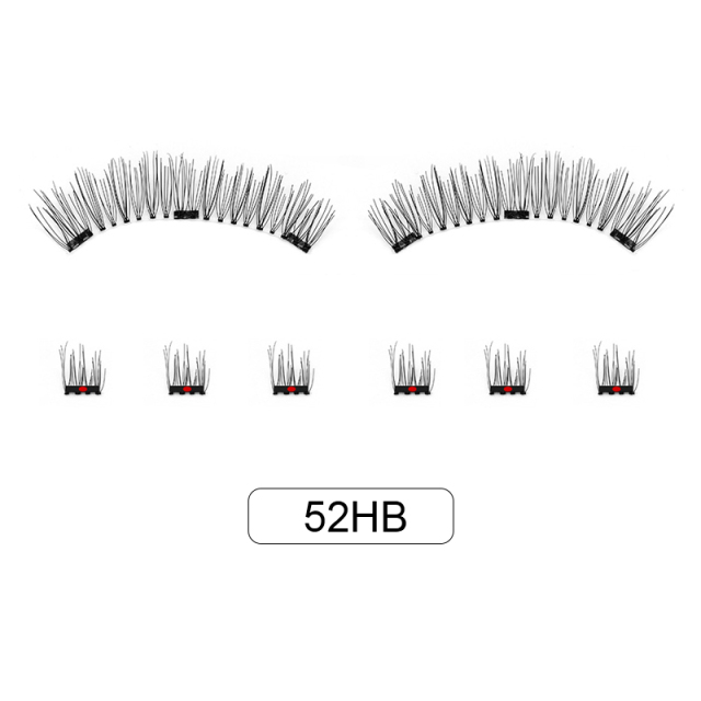 Genailish 8pcs 3D Magnetic Eyelashes Mink Lash Full Strip Lashes False Eyelash With Tweezers Double Magnet Fake Lash  SCT-W-602 5