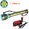 NEW Waterproof  linterna LED Diving flashlight 7 x CREE XML L2 14000LM LED Flashlight 3mode Underwater 100M Waterproof