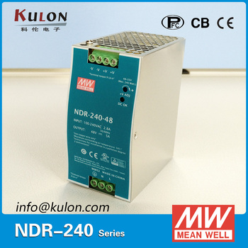 Genuine MEAN WELL NDR-240-48 Single Output 240W 48V 5A Industrial DIN Rail Mounted Meanwell Power Supply