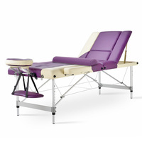 Portable Folding Massage Bed With Big Round Toe 5cm Sponge Wooden Leg Portable Massage Table With