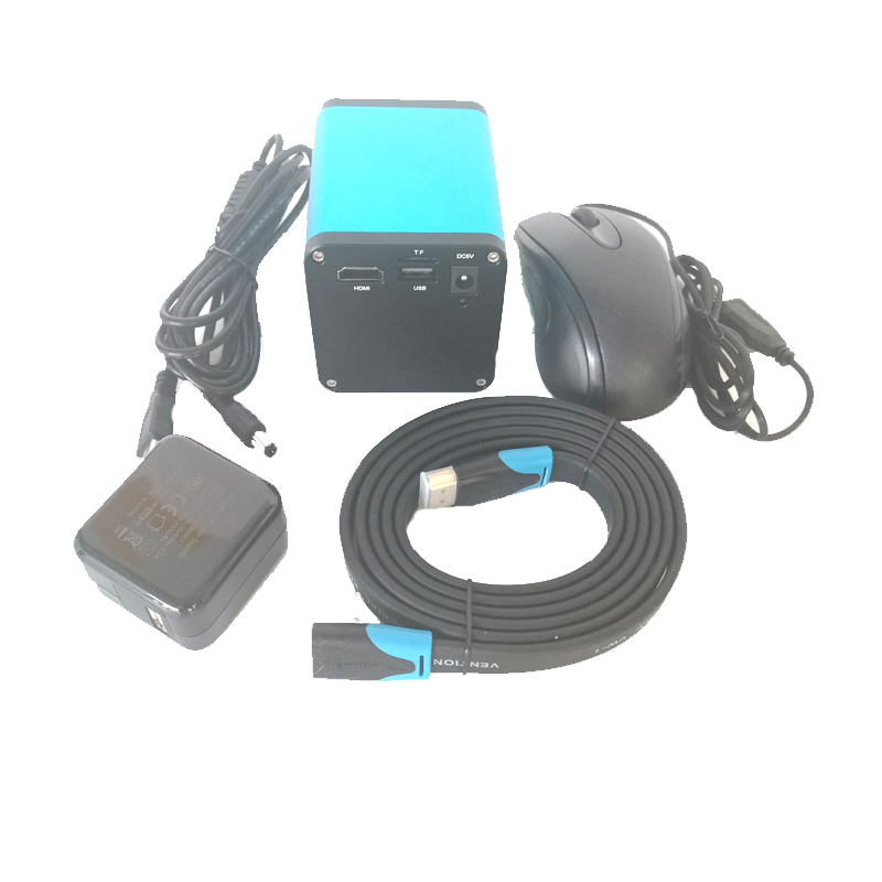 Mouse controller autofocus 1080P 60FPS SONY SENSOR <font><b>IMX290</b></font> HDMI <font><b>USB</b></font> auto focus Microscope Camera for Soldering PCB Phone repair image