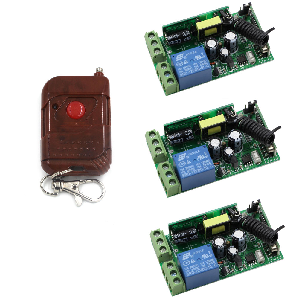 AC 85V 110V 220V 250V 1 CH 3pcs Receivers and Transmitter Wireless Remote Control Power ON OFF Switch for Electrical 315/433MHz 2 receivers 60 buzzers wireless restaurant buzzer caller table call calling button waiter pager system