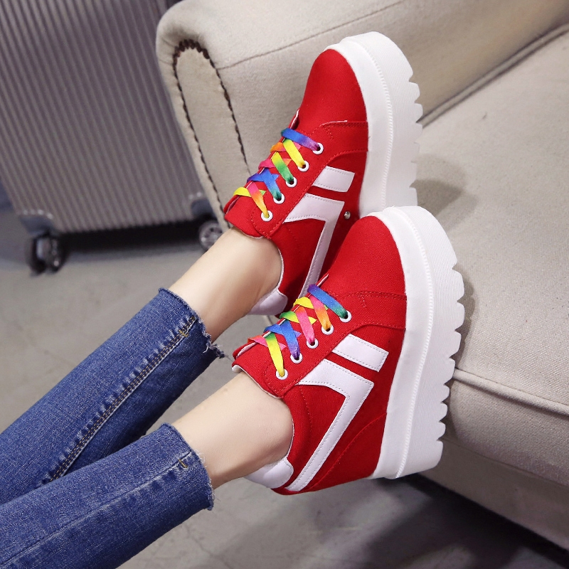 Nice New Korean Fashion Wild Super High Heels Shoes Breathable Comfort Thick Bottom Casual Shoes Women Single Shoes 3
