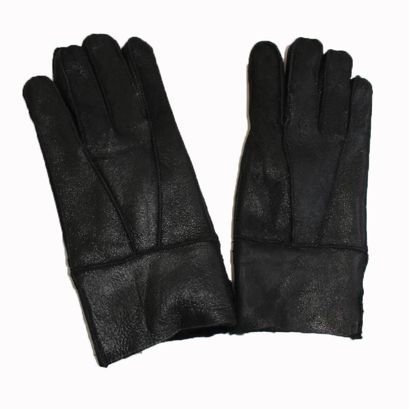 Men's Winter Thickening Genuine Leather Gloves Free size