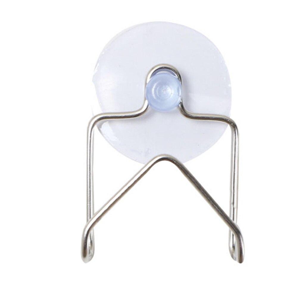 Organizador colgante ventosa escurridor de acero inoxidable antibacterias fácil de instalar herramienta de cocina a prueba de polvo práctico antideslizante