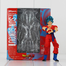 Anime Dragon Ball Z SHF Figuarts Super Saiyan God Goku Joint Movable PVC Action Figure Collection Model Kids Toy Doll DIY Toy