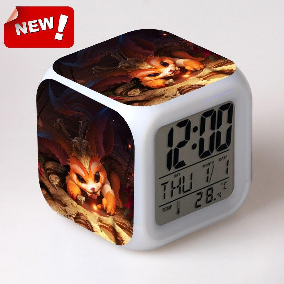 Gnar for LOL Alarm Clock Led Light 7 Color Change Lcd Display Watch Klok Projection Clock Square Reloj Despertador Digital パナソニック VL-SGZ30 モニター壁掛け式ワイヤレステレビドアホン