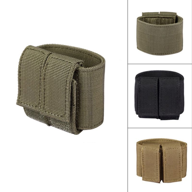 Universal Tactical Airsoft Gun Holster Durable Hunting MOLLE Pistol Bag Hook & Loop for Glock 17 18 19 1911 e.t.c. gun case image