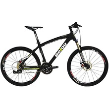 BEIOU Carbon XC Mountain Bike 26-Inch Complete Bicycle MTB 27 Speed  S H I M A N O  370 Toray T700 Fiber Glossy Colorful CB004