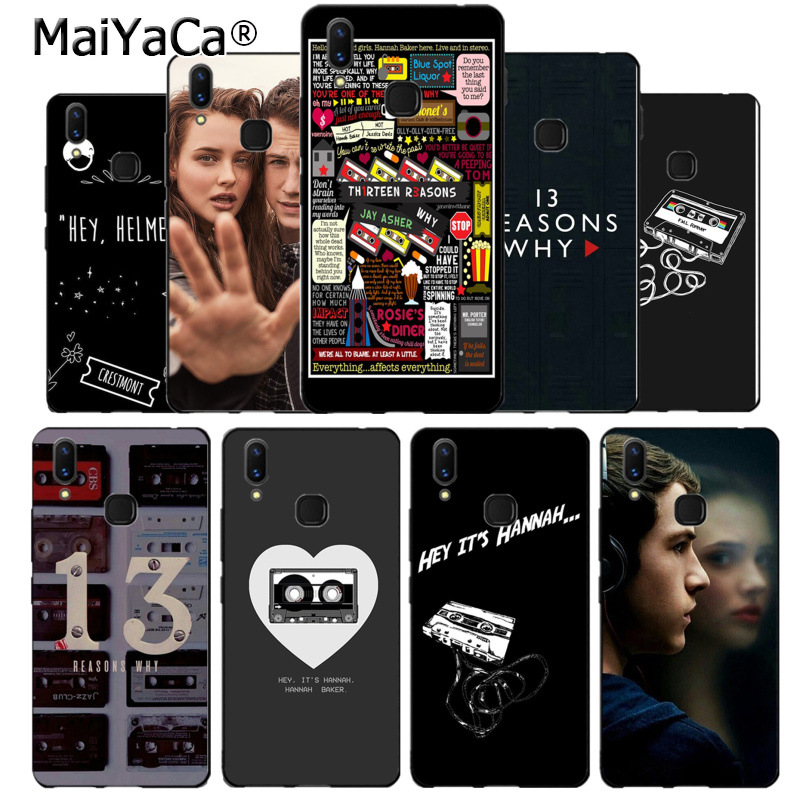 MaiYaCa <font><b>13</b></font> <font><b>reasons</b></font> <font><b>why</b></font> silicone black <font><b>Phone</b></font> <font><b>Case</b></font> for vivo v9 v7 Y83 x20 x20plus x21 plus nex s <font><b>case</b></font> coque image