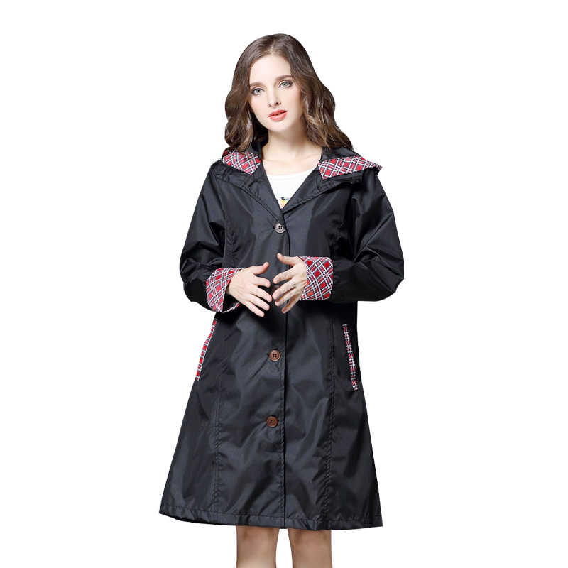 custom better new images of US $17.58 40% OFF|Yuding Hiking Woman Raincoat Hooded Polyester Water  resistant Female Jackets Universal Trench Long Rain Coat for Women-in  Raincoats ...
