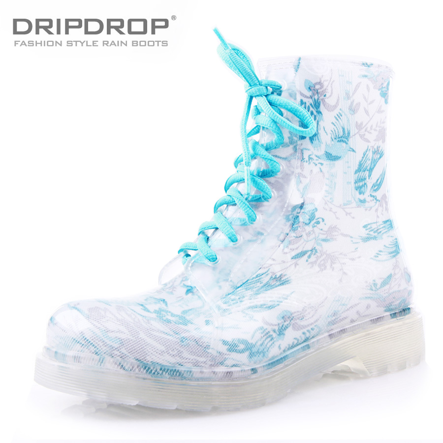 Sale!! Freeshipping  2013 new style Spring fashion sweet jelly transparent women's martin boots rainboots water shoes rain boots