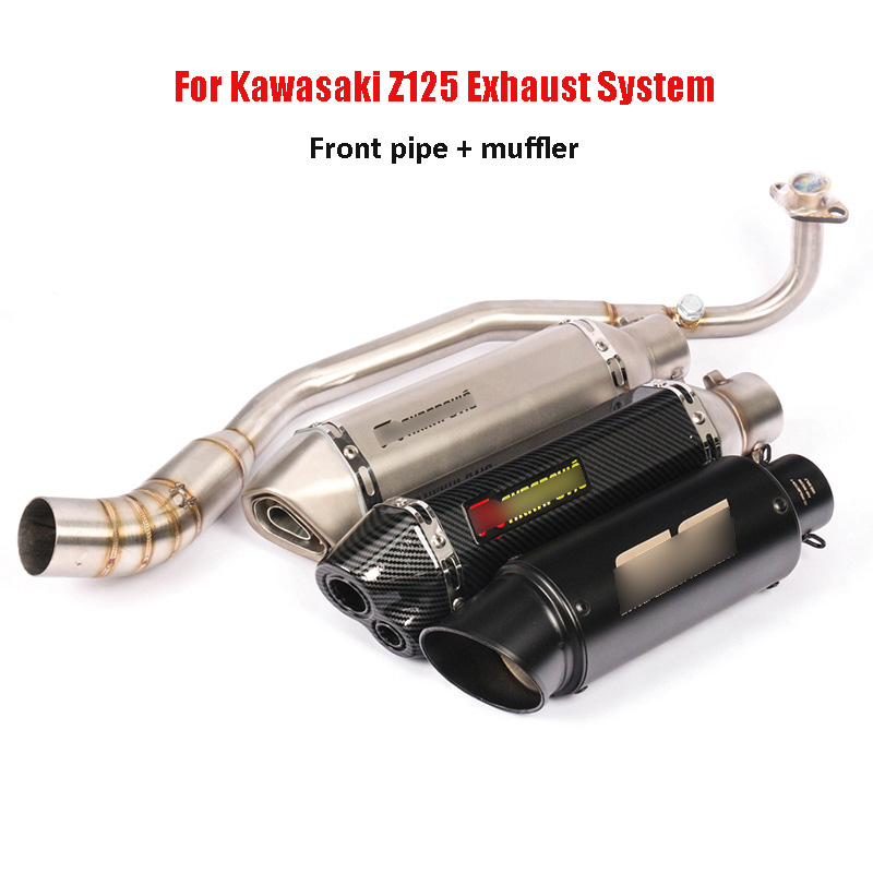 Motorcycle Exhaust System Front Header Pipe Muffler Silencer Slip On Z125 Exhaust Pipe For Kawasaki Z125